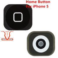 Wholesale Iphone5 Replacement - For iPhone 5 Home Button Return Key Menu Keypad Black White Replacement Repair Parts Spare Fix Part for Mobile Phone Apple iphone5 5g
