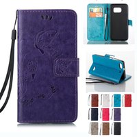 Wholesale S4 Butterfly Wallet - Leather Wallet Case Embossed Butterfly Holster Insert Cards Cover For Sumsung A9 S3 S4 S5 S6 J1 Mini J3 Pro J3 J5 J7 2017 J330 J530 J730