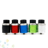 Wholesale Clone X - Vaporizer Royal Hunter X RDA Clone Rebuildable Dripping Atomizers 22MM PEEK Insulators 5 Colors Fit 510 E Cig DHL Free
