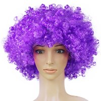Wholesale Pink Cosplay Wigs Short - Xiu Zhi Mei 165g Best quality Wigs Men Afro Fans Wigs Bulkness Christmas Halloween Carnival Party Short Curly Cosplay Wig