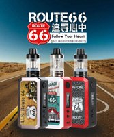 Wholesale Smoke Leak - Geesun ROUTE 66 Vape Mod 80W E-cigarette for Quit Smoking Keep Healthy Ecigs 2000mAh Battery 3.5ml tank Kit adding ejuice on top leak proof
