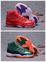 Wholesale Pig Clippers - Free Sihpping Air Retro 11 Miami Hurricanes Clippers Basketball Shoes Mens Retro 11s Miami Hurricanes Clippers Sneakers Size us 7-13