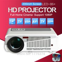 Großhandel-Poner Saund 5500 Lumen Projektor tv Android home lcd Theater Wireless wideo usb Beamer projetor proyector für Daten zeigen Film