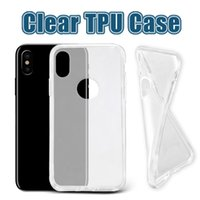 clear case achat en gros de-Pour iPhone X 8 Étui TPU épais Samsung Note 8 Étuis Galaxy S8 Plus Clear Soft TPU Case Haute qualité 1.0mm Doux Transparent Gel Case Opp Bag