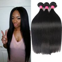 Wholesale Great Hair Weaves - Unprocessed Peruvian Hair Bundles Peruvian Straight Human Hair Weave Queen Hair Products Great Quality Wholesale Price Free Shipping
