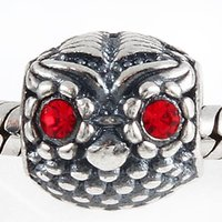 Wholesale China Charms Suppliers - China Supplier Low Price Silver Beads Pandora Beads Jewelry Making Looklike Red Eyes Woodpecker Pattern Charms Fashion Bracelet Design