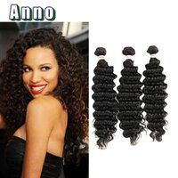 Wholesale Human Weaving Bulk - Brazilian Deep Wave Hair Bulk Brazilian Human Hair Wet And Wavy brazilian 7a Crochet Hair Extensions company