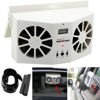 Venta al por mayor droshipping Solar Powered Car Window Air Vent Ventilador Mini Air Conditioner Cool Fan NUEVO