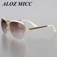 Wholesale Party Shades Sunglasses - ALOZ MICC Newest Women Brand Designer Sunglasses Popular Fashion Shades Sun Glasses Infantil UV400 Cateye Classic Retro Party Female A355