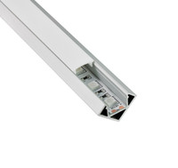 Wholesale Kitchen Cabinet Strip Led - 10 X 1M sets lot Al6063 T6 30 degree angle led profile light and aluminum led strip SMD3528 for kitchen or cabinet lighting