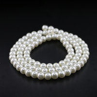 Wholesale Pearl Blue 6mm - Cream glass pearl, 4mm, 6mm, 8mm, 10mm Off White Glass Imitation Pearl Bead with good quality
