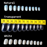 Wholesale Pack Full Cover Oval False Fake Nails Tips Acrylic Artificial Nail Tips Nails Beauty Products New Arrive