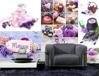 spa wallpaper - Classic Home Decor Lavender SPA Theme Wall mural d wallpaper d wall papers for tv backdrop