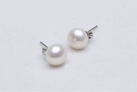 Wholesale freshwater pearl earrings mm earring homecoming earring