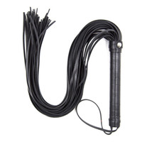 Wholesale Black Sex Toys Men - 69 CM Genuine Leather Queen Whip Flogger Ass Spanking Bdsm Slave In Adult Games For Couples, Fetish Sex Toys For Women And Men