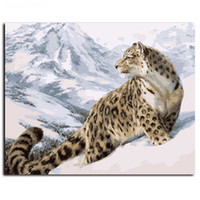 Wholesale Leopard Print Home Decor - Framed Leopard painting Modern HD Art Print on High Quality Canvas Home Wall Decor Multiple Size