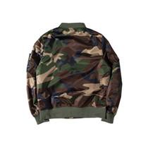 Wholesale Camouflage Varsity Jacket - High Quality MA1 Big Sam Camouflage Military Jackets Men Women Kanye West Hip Hop Camo Jacket Bombers Varsity Jacket Camouflage