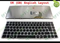 Wholesale Notebook Vaio - New Notebook Laptop keyboard for Sony Vaio VGN-FW FW (FW270JW FW280J FW290 FW130E FW170J FW139N W FW140N) with Silver Frame Black UK Version