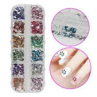 Vente en gros - 1600PCS Nail Art Crystal Rhinestone Resin 12 couleurs Drop 3D Décorations DIY Salon Express Manucure Tools