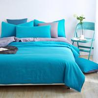 Wholesale King Grey Bedding Sets - Wholesale-Duvet cover sets full queen king size 4pcs warm brief fashion bedding set bedclothes bedsheet bed linen pillowcase grey blue