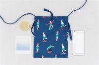 Wholesale Cell Phone Cross Body Pouches - 5pc 12OZ canvas Mini travel case Cross-body Neck Strap Lanyard Mobile Phone Shoulder Bag Pouch cell phone Case Handbag Purse Coin Wallet