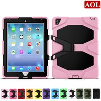 "Wholesale Military Hard Case - Free Shipping by ePacket For New iPad 2017 pro 9.7"" Shock Proof Military Heavy Duty Hard defender Case Cover 12 Colors"