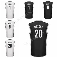 Wholesale Free Color Printing - 2017 Printed 1 DAngelo D Angelo Russell Jersey Black White Color 20 Timofey Mozgov 9 Jarrett Allen Basketball Jerseys Sports Free Shipping