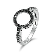Wholesale forever rings for women for sale - Group buy 100 Genuine Sterling Silver Colors Forever Clear Black CZ Round Finger Rings for Women Authentic Silver Jewelry SCR112