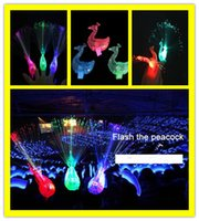 Wholesale 12 Led Light Fan - Fast Ship Fan Patry Christmas Party Flash Ring LED flashing Santa Claus Peacock ring LED finger light flash toys light Band Rings
