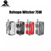 Wholesale Top Ecig Tanks - Authentic Rofvape Witcher Kit with Witcher Tank 75W Starter Kit with 5.5ml Top Refilling Tank E Cigarette Ecig Vape Box