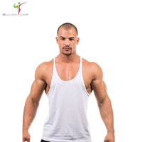 Wholesale Cheap Wholesale Tank Tops Men - Wholesale- 2017 tank top men vest Solid bodybuilding shirts shark men vest singlet men fitness cheap throwback jerseys brand-clothing