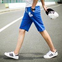 Wholesale Drawstring Top - Wholesale-Shorts Men Hot Sale Top Fashion Loose Mid Batik Knee Length Drawstring Pattern Harem Print Mma 2015 Men's Summer Cotton