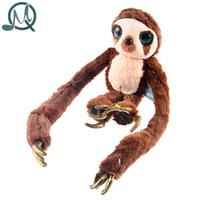 Wholesale Croods Monkey Belt - Wholesale- MQ The Croods Cartoon Character Long Arms Plush Stuffed Soft Toys Belt Monkey Dolls(Small Size)