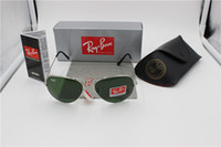 Wholesale Stainless Mix Order - lot wholesale Price designer Mans ray 3025 pilot sunglasses Glod frame Tea Mix order men Womans Sunglasses brand sun glass Come Box