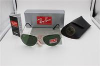 Wholesale Designer Sunglasses Ray Brand - lot wholesale Price designer Mans ray 3025 pilot sunglasses Glod frame Tea Mix order men Womans Sunglasses brand sun glass Come Box