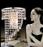 Wholesale Luxury Crystal Light Wholesale - NEW Modern Luxury K9 Crystal LED Wall Lights Crystal Wave Chandelier Curtain Wave LED E14 Bulb Lights Crystal ChandelierS Pendent Hotels MYY