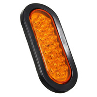 Oval Oblong 22 Led Stop Turn Luminoso Tail Light Sealed Camion Rimorchio per montaggio superficiale