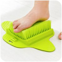 Wholesale wholesale instruments accessories online - With Sucker Foot Brush Soft Densed Bristle Cleaning Brushes Relax The Whole Body Bathroom Accessories Blue Green ex B R