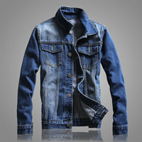 Wholesale Cowboy Clothes For Men - Men Autumn New Denim Blue Jean Jackets Fashion Cowboy Slim Fit Coats Spring Trend Jacket Clothing for Male