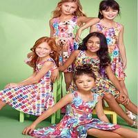 Wholesale Children S Clothing Leopard Print - summer dress European and American girls color vest dress cute animal printing princess skirt children 's clothing wholesale