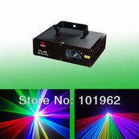 Wholesale Stage Light Moving Heads - Wholesale-600mW RGB Color Stage Lights Moving Heads Beam Laser Show Projector With Sound