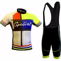 Wholesale Clothes Cyclist - 2017 cyclist Cycling Jerseys bib shorts set Bicycle clothes sport wear cycling clothing Bike jersey Lycra summer MTB Bike new