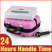 Wholesale Pink Massager - Ultrasound 1 MHZ Face Lifting Massager Rejuvenating Anti-Age Effective Beauty SPA Machine With Pink Color Suitcase