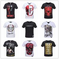 Wholesale Cotton Fashion Shorts - Original German Brand PP t shirts for men Fashion Short Sleeve 100% Cotton poloshirt shirt men Skull hip pop Designer mens t shirts