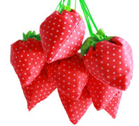 New Candy Color Bag Strawberry Shape Reutilizável Eco Friendly Shopping Tote bag pouch Ambiente seguro Go Green Candy Colors
