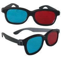 Wholesale Cheap Tv Wholesale Prices - Wholesale- 4Pcs lot Universal Version Blue And Red 3D Glasses Home Use Cheap Price For TV Movie Video Projector 3D Eye Glass Free Shipping
