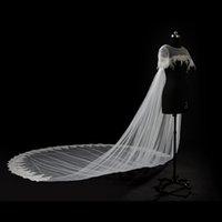 Wholesale Tulle Bridal Jacket Cape - 100% Own Design 2017 White Ivory Long Wedding Capes Cloaks Custom Size Bridal Boleros Jackets Wraps robe de mariage Wedding Shawls