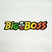Wholesale Big Car Decals - 1pcs Personality Colorful English Stickers 50cm*12cm Big Boss Decals Big Boss Car Pasters Auto Stickers Car Stickers