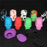 Wholesale Oem Toys - skull silicone containers, skull silicone dab jar wax containers, silicone dab jar OEM available free shipping