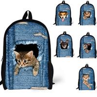 Wholesale Dog Hiking Backpacks - Hot sale 3D animal backpacks Cute Cat & Dogs School Bag Children Adult Outdoor Travel Bags Rucksacks